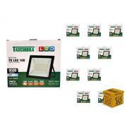 Kit 10 Refletores Led 100W Luz Branca Holofote Slim Taschibra