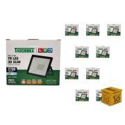 Kit 10 Refletores Led 30W Luz Branca Holofote Slim Taschibra