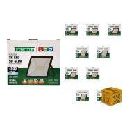 Kit 10 Refletores Led 50W Luz Branca Holofote Slim Taschibra