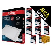 Kit 12 Painel Plafon Led 18W Emb. Quadrado Luz Branca Avant