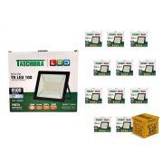 Kit 12 Refletores Led 100W Luz Branca Holofote Slim Taschibra