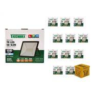 Kit 12 Refletores Led 50W Luz Branca Holofote Slim Taschibra