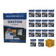 Kit 15 Refletor Led 100W Holofote Luz Branca a Prova D'água Okston