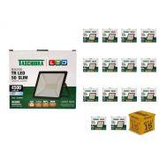 Kit 15 Refletores Led 50W Luz Branca Holofote Slim Taschibra