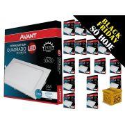 Kit 20 Paineis Plafon Led 24W Embutir Quadrado Branco Avant