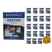 Kit 20 Refletor Led 100W Holofote Luz Branca a Prova D'água Okston