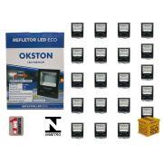Kit 20 Refletor Led 200W Holofote Luz Branca a Prova D'água Okston