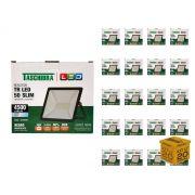 Kit 20 Refletores Led 50W Luz Branca Holofote Slim Taschibra