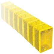 Caixa de Luz Tigre 4X2 Retangular Amarela Com 24 Unidades