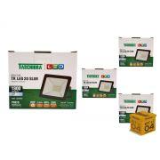 Kit 4 Refletores Led 20W Luz Branca Holofote Slim Taschibra
