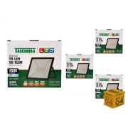 Kit 4 Refletores Led 50W Luz Branca Holofote Slim Taschibra