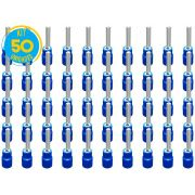 Kit 50 Terminais Pino Pré Isolado Azul 1,5mm a 2,5mm Decorlux