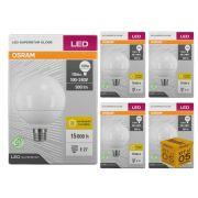 Kit 5 Lâmpada Led Globo 10w 900 lumens Luz Amarela 3000K Osram