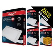 Kit 5 Painel Plafon Led 18W Emb. Quadrado Luz Branca Avant