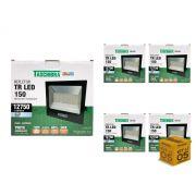 Kit 5 Refletores Led 150W Luz Branca Holofote Slim Taschibra