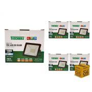 Kit 5 Refletores Led 20W Luz Branca Holofote Slim Taschibra