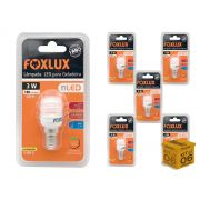 Kit 6 Lâmpada Led Para Geladeira 3w 127V 180 Lumens Foxlux