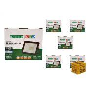 Kit 6 Refletores Led 20W Luz Branca Holofote Slim Taschibra