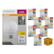 Kit 8 Lâmpada Led Globo 10w 900 lumens Luz Amarela 3000K Osram