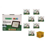 Kit 8 Refletores Led 20W Luz Branca Holofote Slim Taschibra
