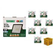 Kit 8 Refletores Led 50W Luz Branca Holofote Slim Taschibra