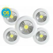Kit com 05 - Luminária Led Portátil Touch Light Signature 1,5w Avant