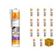 Kit com 15 - Silicone Acético Multiuso Transparente 270ml(265g) SIKA