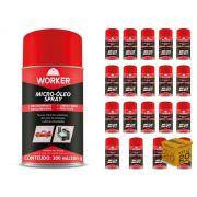 Kit com 20 - Lubrificante E Desengripante Micro-Óleo Spray 300ml Worker