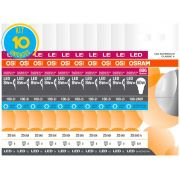 Kit 10 Lâmpadas Led Bulbo Luz Fria 8w E27 Osram