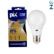 Lâmpada Led Bulbo Luz Fria 12w E27 Pix