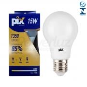 Lâmpada Led Bulbo Luz Fria 15w E27 Pix