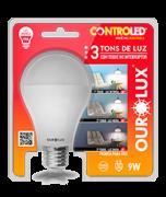 Lâmpada Led Controled 9w Luz Fria 3Tons 20490 Ourolux