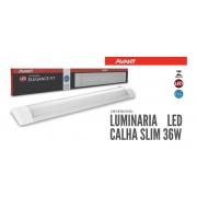 Luminária Linear Led Sobrepor 100cm 36w Luz Fria Avant