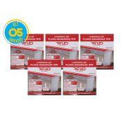 Luminária Painel Plafon Led 18w Embutir Quadrado Branco RG - Kit 05