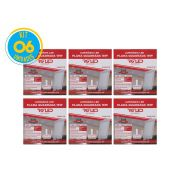 Luminária Painel Plafon Led 18w Embutir Quadrado Branco RG - Kit 06