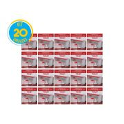 Luminária Painel Plafon Led 18w Embutir Quadrado Branco RG - Kit 20