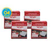 Luminária Painel Plafon Led 3w Embutir Quadrado Branco RG - Kit 04