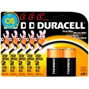 Pilha Alcalina Media Duracell C Cart. com 2 ( 5 Cartelas )
