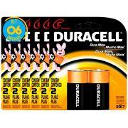 Pilha Alcalina Media Duracell C Cart. com 2 ( 6 Cartelas )