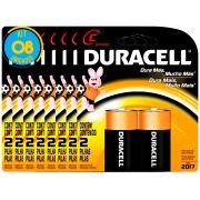 Pilha Alcalina Media Duracell C Cart. com 2 ( 8 Cartelas )