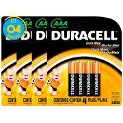 Pilha Alcalina Palito Duracell AAA Cart. com 4 ( 4 Cartelas)