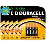 Pilha Alcalina Palito Duracell AAA Cart. com 4 ( 5 Cartelas)