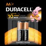 Pilha Alcalina Pequena AA Cartela 2 Unidades Duracell