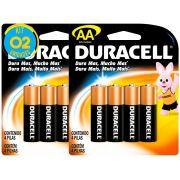 Pilha Alcalina Pequena Duracell AA Cart. com 4 ( 2 Cartelas )