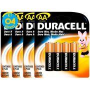 Pilha Alcalina Pequena Duracell AA Cart. com 4 ( 4 Cartelas )