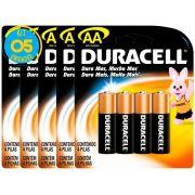 Pilha Alcalina Pequena Duracell AA Cart. com 4 ( 5 Cartelas )