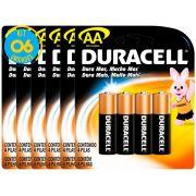 Pilha Alcalina Pequena Duracell AA Cart. com 4 ( 6 Cartelas )