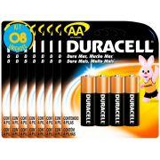 Pilha Alcalina Pequena Duracell AA Cart. com 4 ( 8 Cartelas )