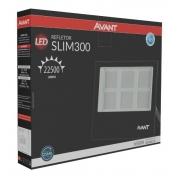 Refletor de Led 300w Preto Luz Fria Avant