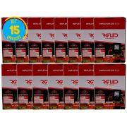Refletor Led Holofote 10w Kit 15 Unidades Rg Led Premium